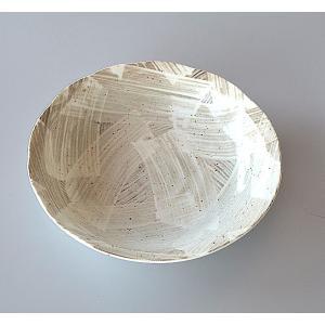 粉引き刷毛目 スープ皿|toukistudio