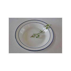 モダンリビング ブルーラインスープ皿 訳あり|toukistudio