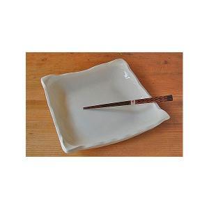 手作り 白角大皿 反り縁|toukistudio