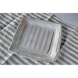 粉引 角皿|toukistudio
