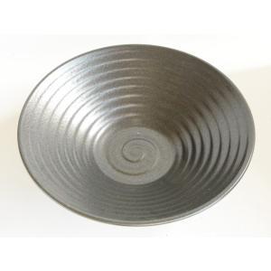 蘇山窯 黒渦 大盛り皿|toukistudio