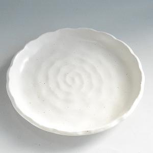 粉引 波縁 大皿|toukistudio