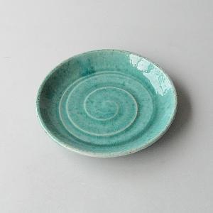 松助窯 織部ブルー 中皿|toukistudio