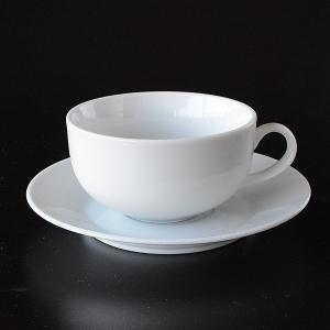 シンプルな白いスープカップ&ソーサー|toukistudio