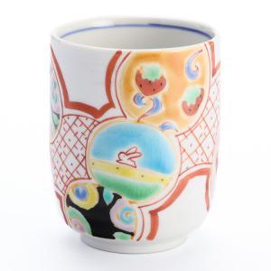 (九谷焼)湯呑 福寿紋/銀舟窯 和食器 湯呑み 人気 ギフト 贈り物 結婚祝い/内祝い/お返し|toulife