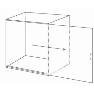 アクリル バードケージ カバー W470×H650×D515 スライド式 スタンダードタイプ    鳥かご 防音 保温 ペットケージ 飼育用品 ペット用品|toumeikan|02