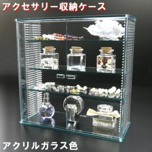 アクセサリー収納ケース ガラス色 W316×H312×D130 【送料無料】透明ケース アクリル板 アクリルケース クリアケース プラスチックケース|toumeikan