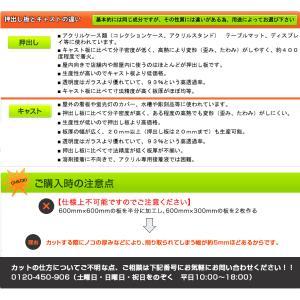 アクリル板(押出し)透明-板厚(3mm)  910mm×600mm |toumeikan|02