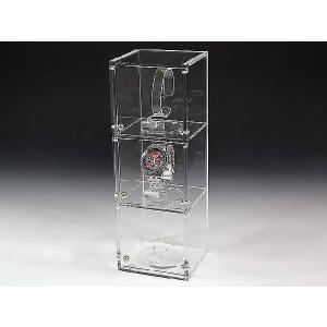 腕時計ショーケース(時計スタンド3個込み) (アクリルケース)|toumeikan|02