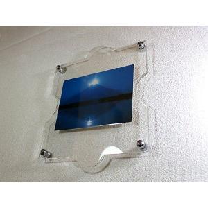 アクリル壁掛け壁掛けパズル型フォトフレーム(金具付) (フォトフレーム)(写真立て)|toumeikan