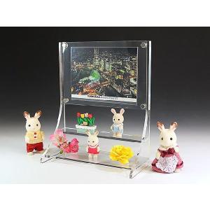 アクリル一体型TVフォトスタンド (フォトフレーム)(写真立て)|toumeikan