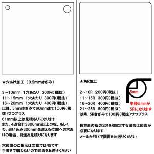 ポリカーボネート 透明-板厚(2ミリ)(両面耐候)910×910 toumeikan 04