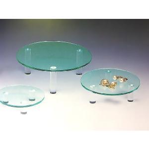 サークル台(I型) ガラス色 大中小セット売り 板厚8mm (アクリル台)|toumeikan
