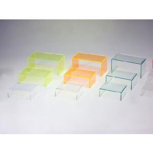 アクリル小物台(コの字台) ガラス色 W250mm×D150mm×H100mm 板厚3mm (アクリルステージ)|toumeikan