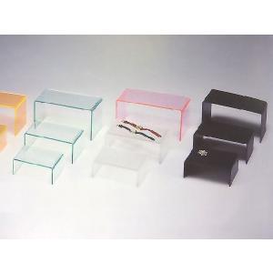 アクリル小物台(コの字台) 黒マット W300mm×D150mm×H150mm 板厚3mm (アクリルステージ)|toumeikan