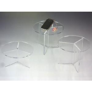 サークル台(II型) 透明 φ200mm×H100mm 板厚5mm (アクリル台)|toumeikan