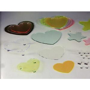 アクリルハートプレート (蛍光色) W290mm×D260mm×H5mm (アクリルディスプレイ)|toumeikan