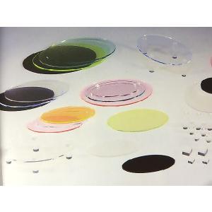 アクリルオーバルプレート (蛍光色) W200mm×D100mm×H5mm (アクリルディスプレイ) toumeikan