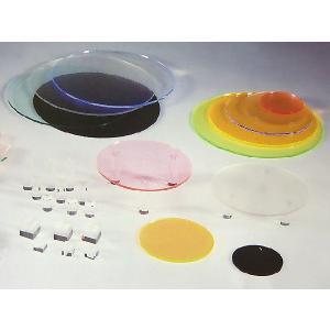 アクリルサークルプレート (ガラス色) φ150×H5mm (アクリルディスプレイ)|toumeikan