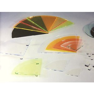 アクリルサークルプレート 1/4 (蛍光色) φ300×1/4×H5mm (アクリルディスプレイ)|toumeikan