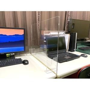 アクリルサイドパーテーション sc600 アクリル板 横幅サイズオーダー オフィス 飛沫防止 コロナ 飛沫対策  パーティション 60センチ×45センチ|toumeikan