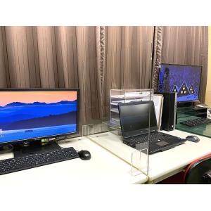 アクリルサイド対面パーテーション sc900 アクリル板 横幅サイズオーダー 飲食店 オフィス 飛沫防止 コロナ 飛沫対策  パーティション 90センチ×60センチ|toumeikan