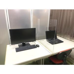 T型 パーテーション アクリル板 デスク カウンター 90センチ×60センチ 仕切り 衝立 オフィス ウィルス対策 飛沫対策 飛沫防止 コロナ パーティション|toumeikan