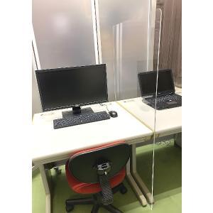デスク用仕切り アクリル板 パーテーション デスク サイズオーダー 140センチ×90センチ 仕切り 衝立 オフィス 目隠し 飛沫対策|toumeikan