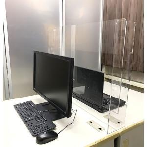 対面 パーテーション 受付 接客 アクリル板 デスク 仕切り サイズオーダー 90センチ×60センチ デスク回り ウイルス対策 衝立 コロナ 飛沫防止 飛沫対策|toumeikan