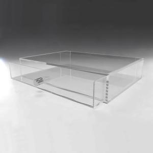重厚引出し式アクリルケース 横長タイプ A3サイズ 引出し深さ50mm     収納 透明ケース アクリル板 クリアケース プラスチックケース|toumeikan|02