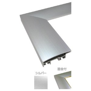 額縁 OA額 ポスター額縁 アルミフレーム DL 面金付 サイズ600X500mm|touo