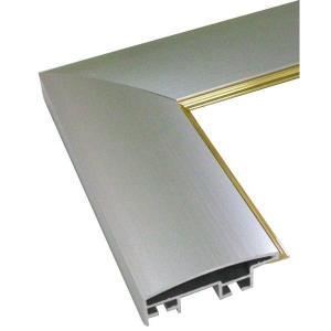 額縁 正方形の額縁 木製フレーム アルミ製 DL 面金付 サイズ450画|touo