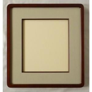 額縁 色紙額縁 アートフレーム 高級隅丸 木製 森(女桑)|touo