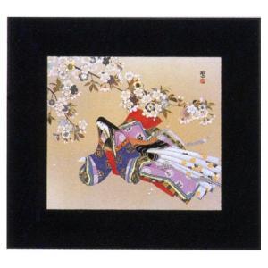 絵画 インテリア アートポスター 壁掛け (額縁 アートフレーム付き) 東 聖観(木下勝功)作 「竹河の催馬楽」|touo