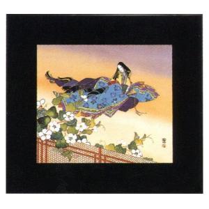 絵画 インテリア アートポスター 壁掛け (額縁 アートフレーム付き) 東 聖観(木下勝功)作 「夕顔/儚し夕顔の花」|touo