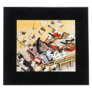 絵画 インテリア アートポスター 壁掛け (額縁 アートフレーム付き) 東 聖観(木下勝功)作 「橋姫/宇治に咲く花」|touo