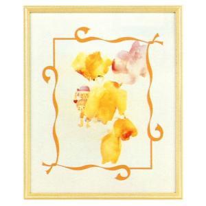 絵画 インテリア アートポスター 壁掛け (額縁 アートフレーム付き) いわさきちひろ作 「バラにかくれる子ども」|touo