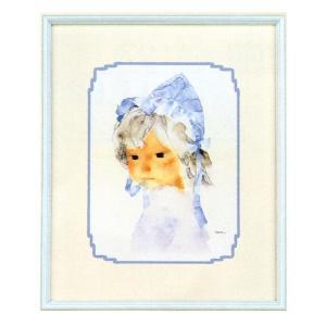 絵画 インテリア アートポスター 壁掛け (額縁 アートフレーム付き) いわさきちひろ作 「赤ちゃんのくる日」|touo