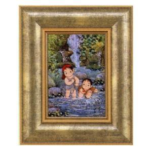 絵画 壁掛け 版画 リトグラフ 開田 風童作 「さわの夏」|touo