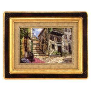 絵画 油絵 肉筆絵画 壁掛け (額縁 アートフレーム付き)ペカド作 「Montpellier(France)」|touo