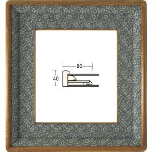和額縁 日本画額縁 フレーム 木製 4249 サイズF6号|touo