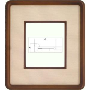 額縁 アートフレーム 色紙額縁 木製 4869 1/4 touo