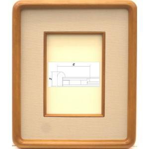 額縁 アートフレーム 色紙額縁 木製 4869 ハガキ|touo
