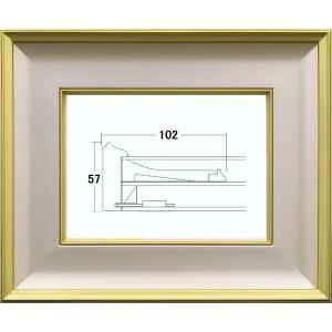 和額縁 日本画額縁 フレーム 木製 4882 サイズF15号|touo