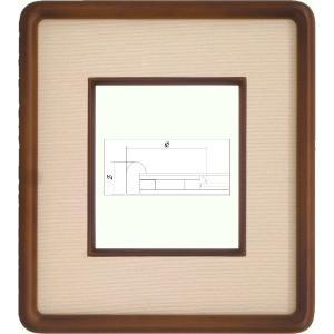 額縁 アートフレーム 色紙額縁 4869 (1/4色紙) touo