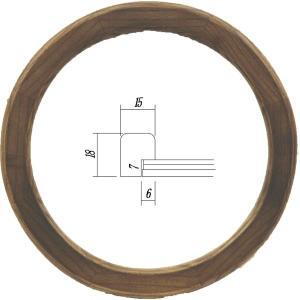 額縁 楕円形額縁 アートフレーム 木製 5266 正円200mmサイズ|touo