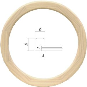 額縁 楕円形額縁 アートフレーム 木製 5266 正円150mmサイズ|touo