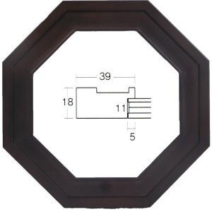 額縁 長八角額 正八角額縁 木製フレーム 5267 正八角300mmサイズ|touo