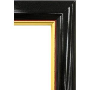 額縁 オーダーメイド額 オーダーフレーム デッサン額縁 5600 ブラック 組寸サイズ600 八ッ切|touo