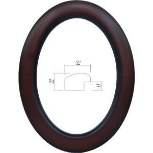 額縁 楕円形額縁 木製フレーム 5630 楕円400X250mmサイズ|touo